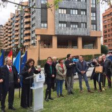 Inauguración en Oviedo de la Plaza Cardenal Tarancón