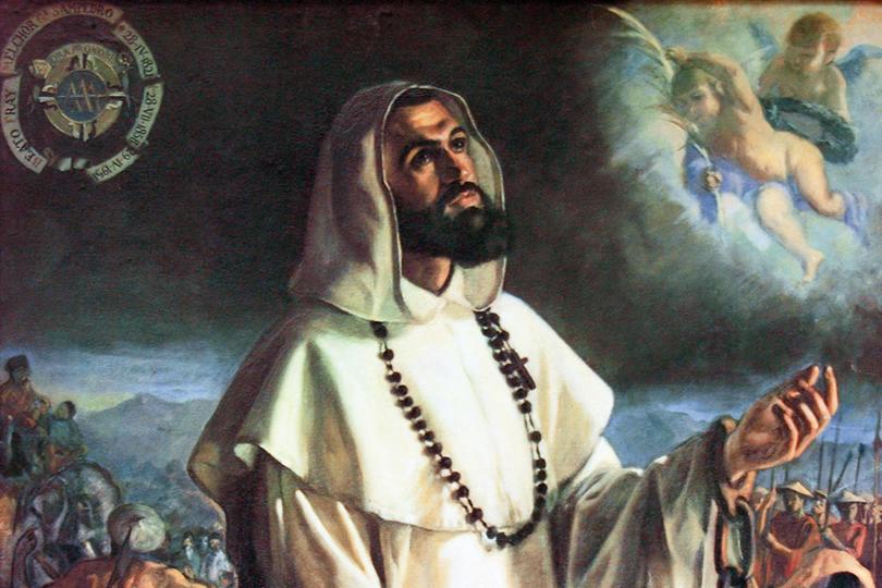 Cuadro sobre San Melchor de Quirós