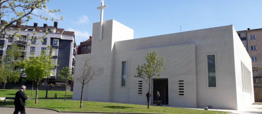 Inauguración del nuevo templo de Santa Olaya, en Gijón