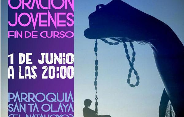 Oración de jóvenes de fin de curso, en Gijón