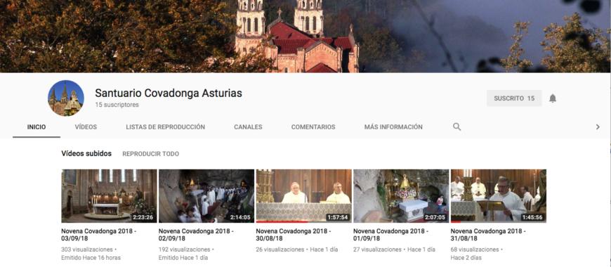 La Novena de Covadonga, en directo a través de Youtube