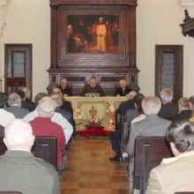 Felicitación de Navidad en la Curia diocesana