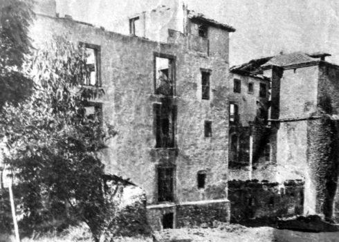 Balcón por el que huyeron los seminaristas, en 1934