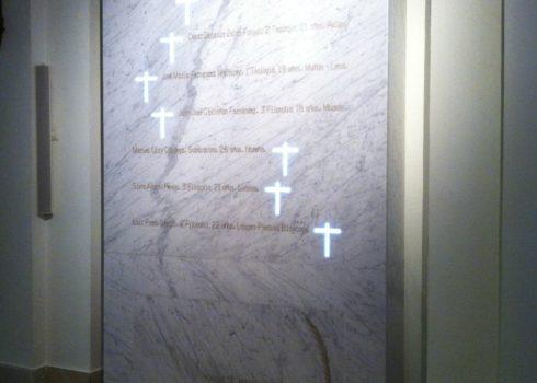 Restos de los Seminaristas Mártires, en la Capilla Mayor del Seminario Metropolitano