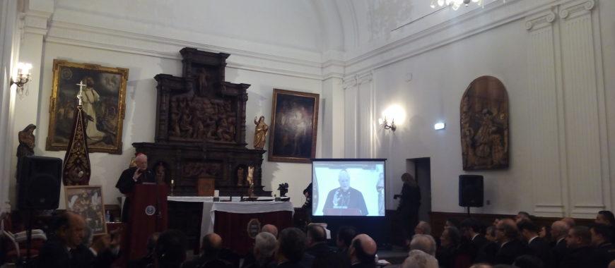 El Cardenal Carlos Amigo, en el Pregón del Costalero en Oviedo