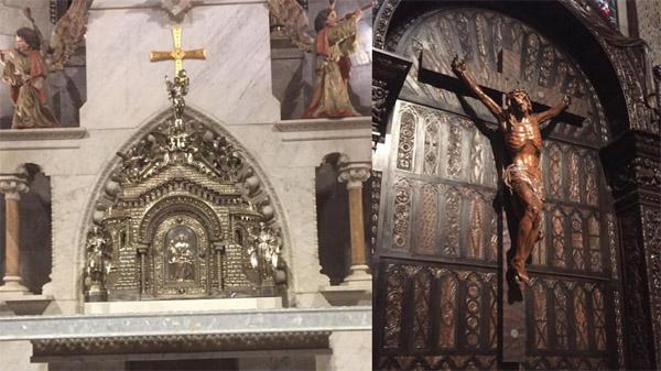 Regresan a la basílica del Sagrado Corazón de Gijón el sagrario y el crucifijo originales