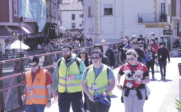 Marcha de jóvenes a Covadonga