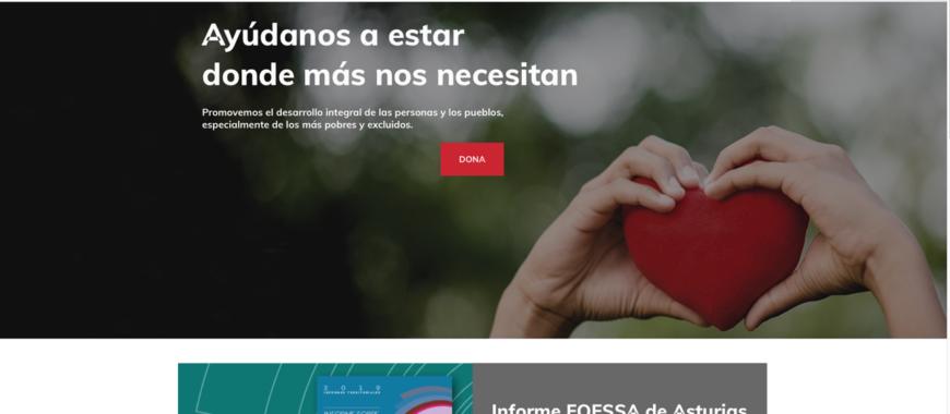 Nueva página web de Cáritas