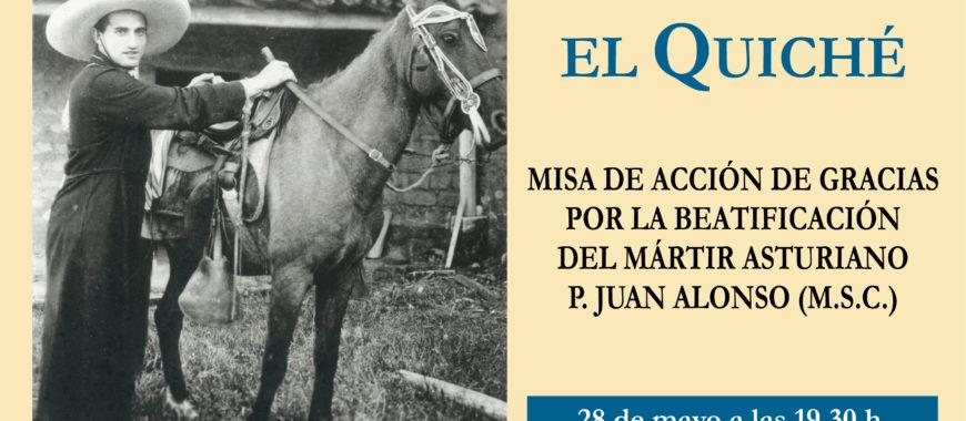 Eucaristía de acción de gracias por la beatificación del misionero asturiano P. Juan Alonso
