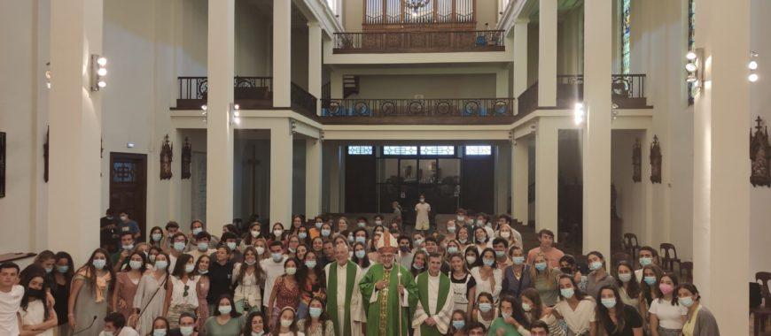 Un grupo de Hakuna, procedente de diversos puntos de España, en el Seminario